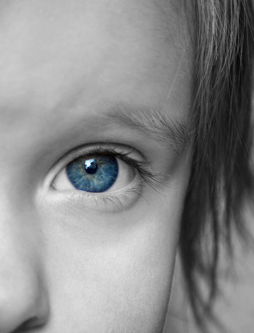 blue grey eye
