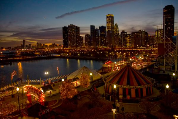 Blue Hour in Chicago