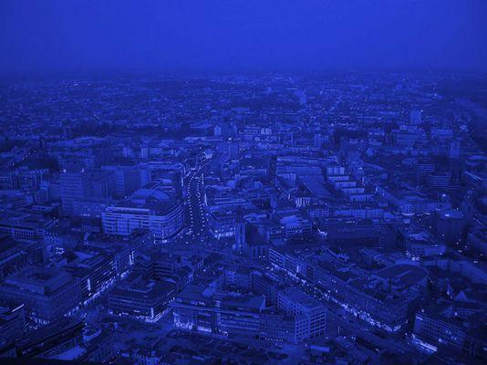 Blue hour über der Zeil