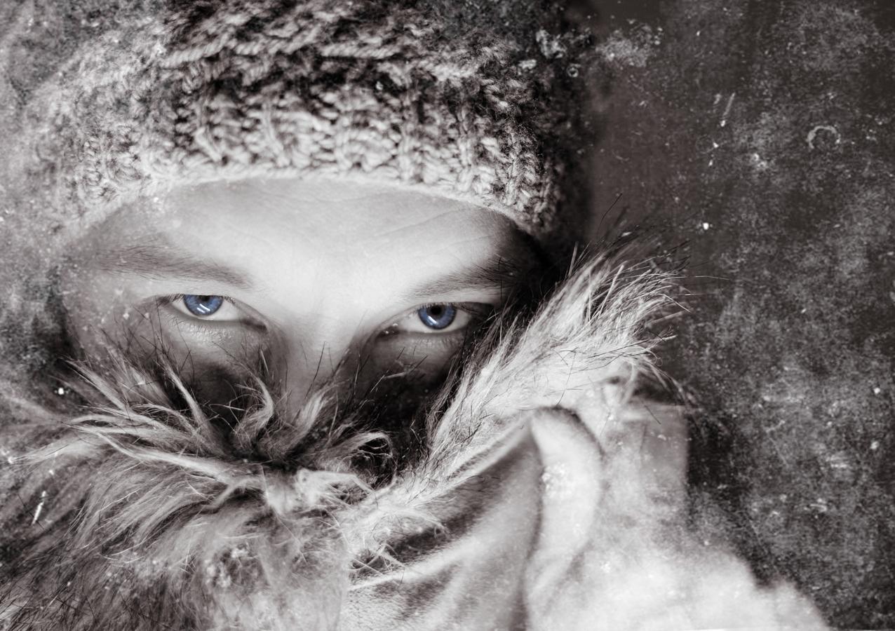 Blue iced hood