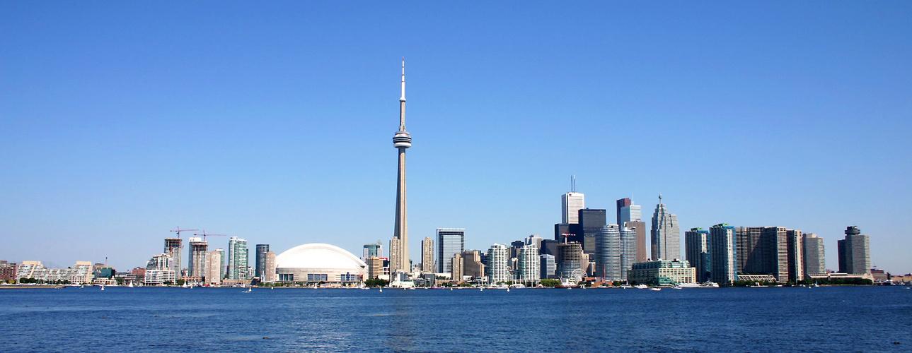 Blue in blue - Toronto Skyline