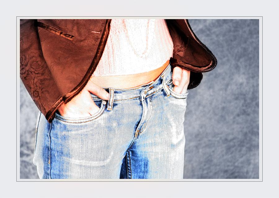 blue jeans und bauchfrei ...