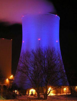 Blue Lights in the Dark....