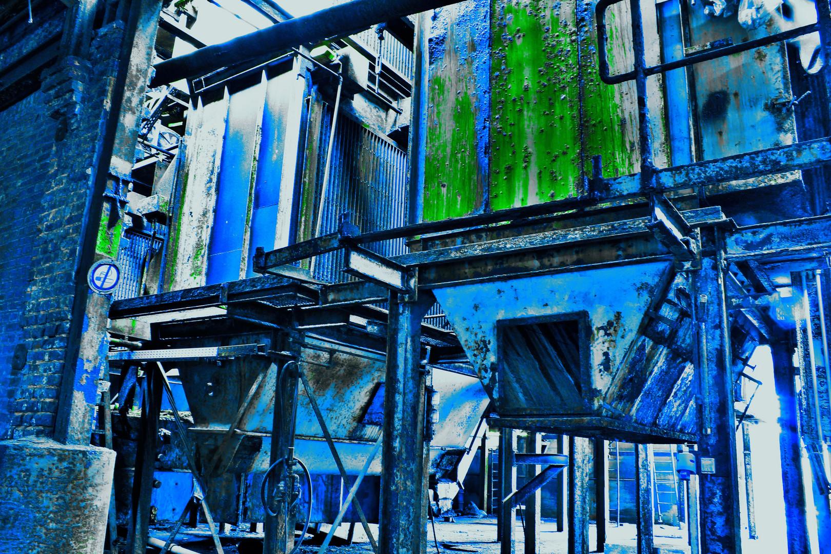 Blue machine