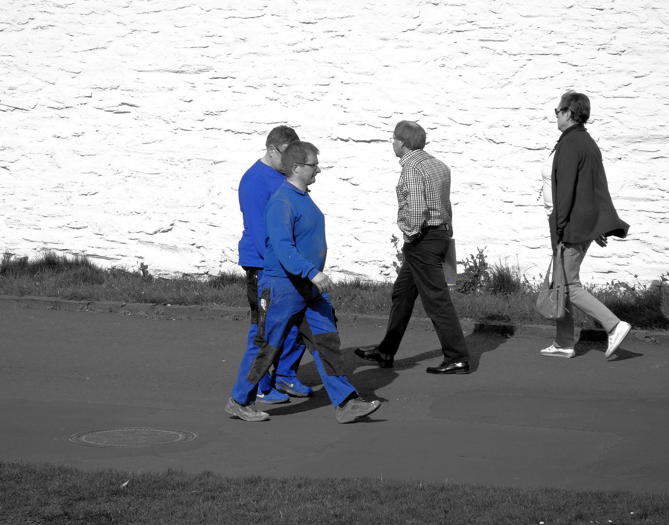 Blue Man Group - einer krank