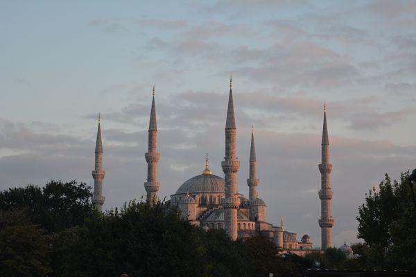 Blue Masjid at the sun set