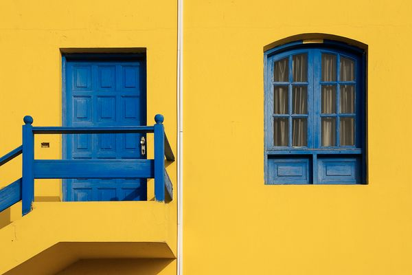 Blue on Yellow