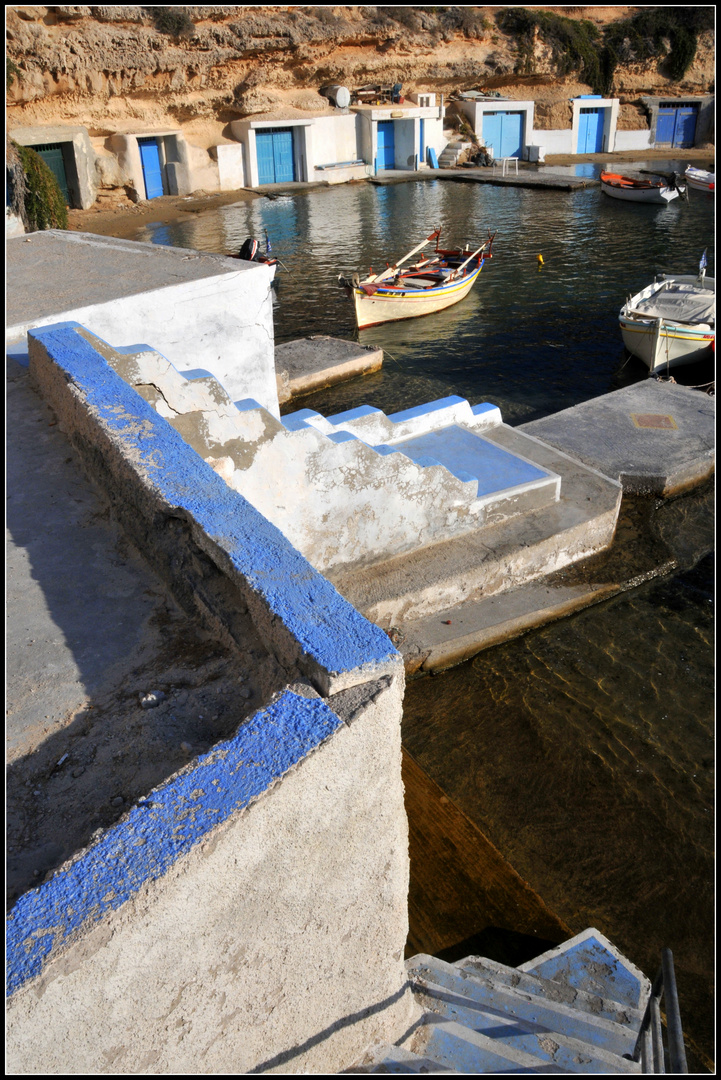 Blue path to sea