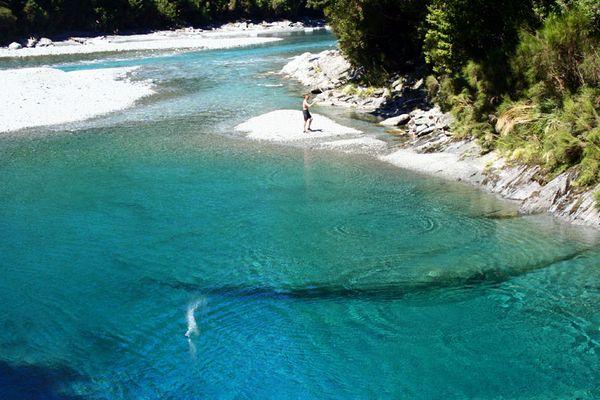 Blue Pools am Haast Pass