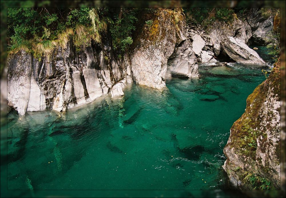Blue Pools von Neuseeland