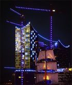 Blue Port Hamburg - Elbphilharmonie im Feuerwerk