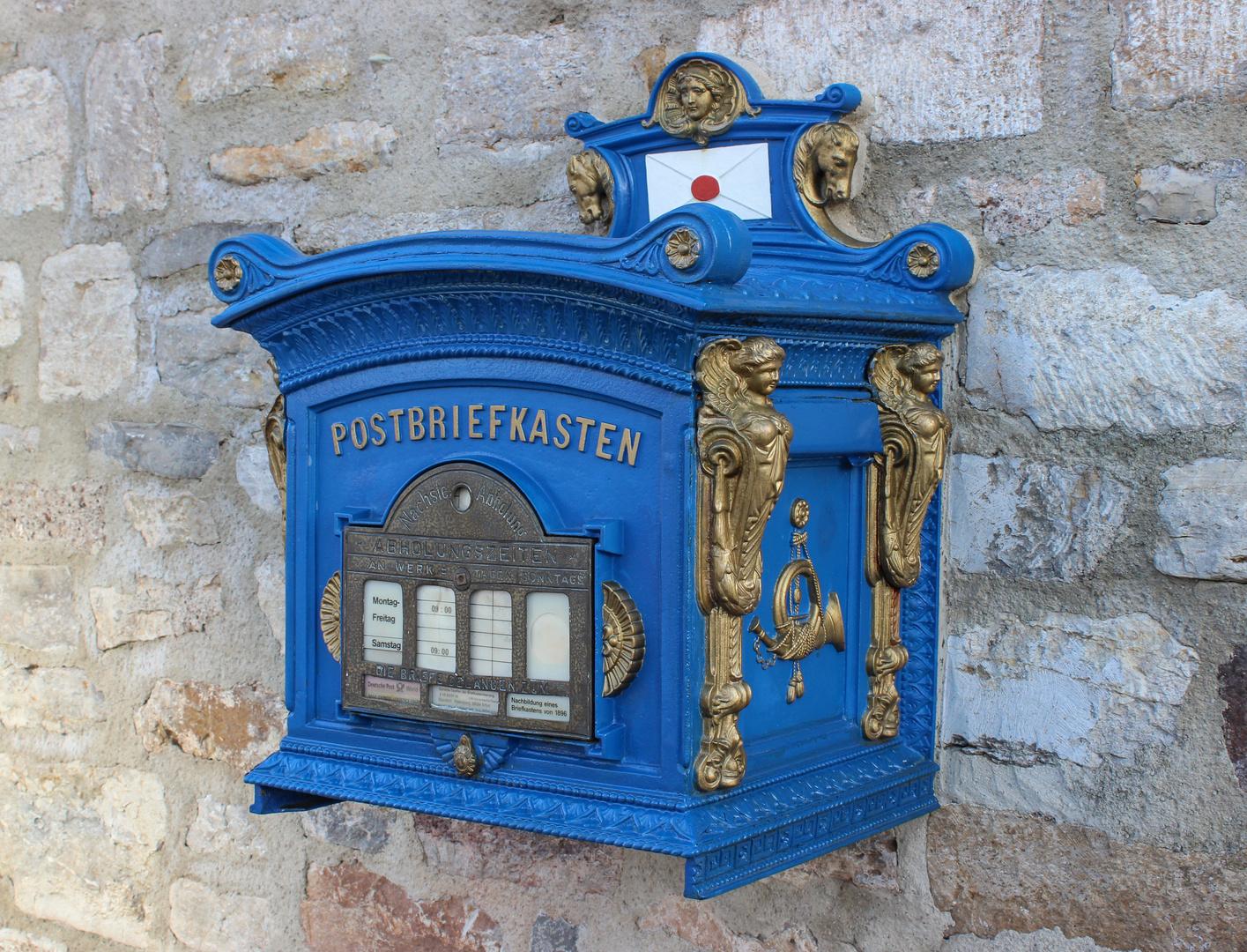 blue postman