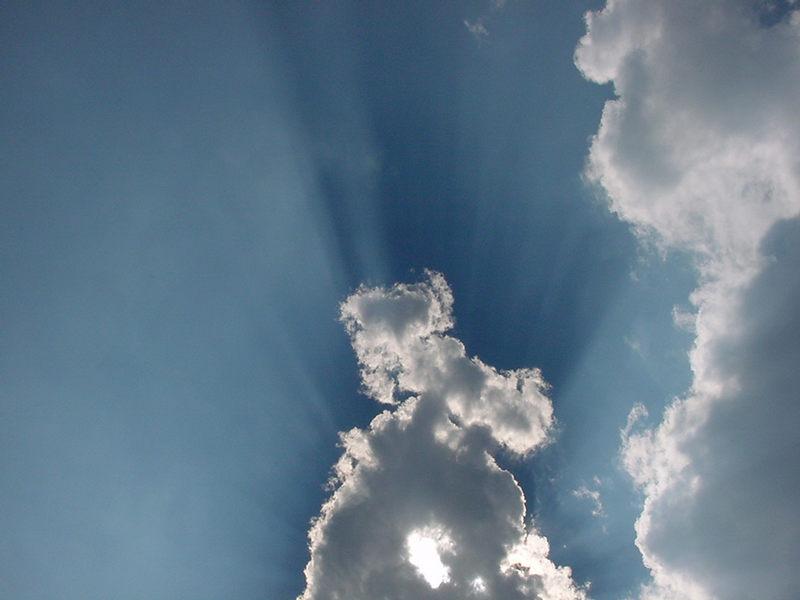 Blue Sky with Magic Light