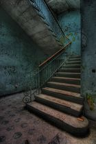 blue staircase