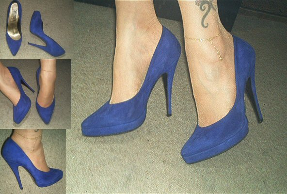 Blue Suede Shoes bzw. High Heels