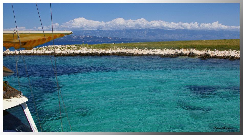 ... blue water ...