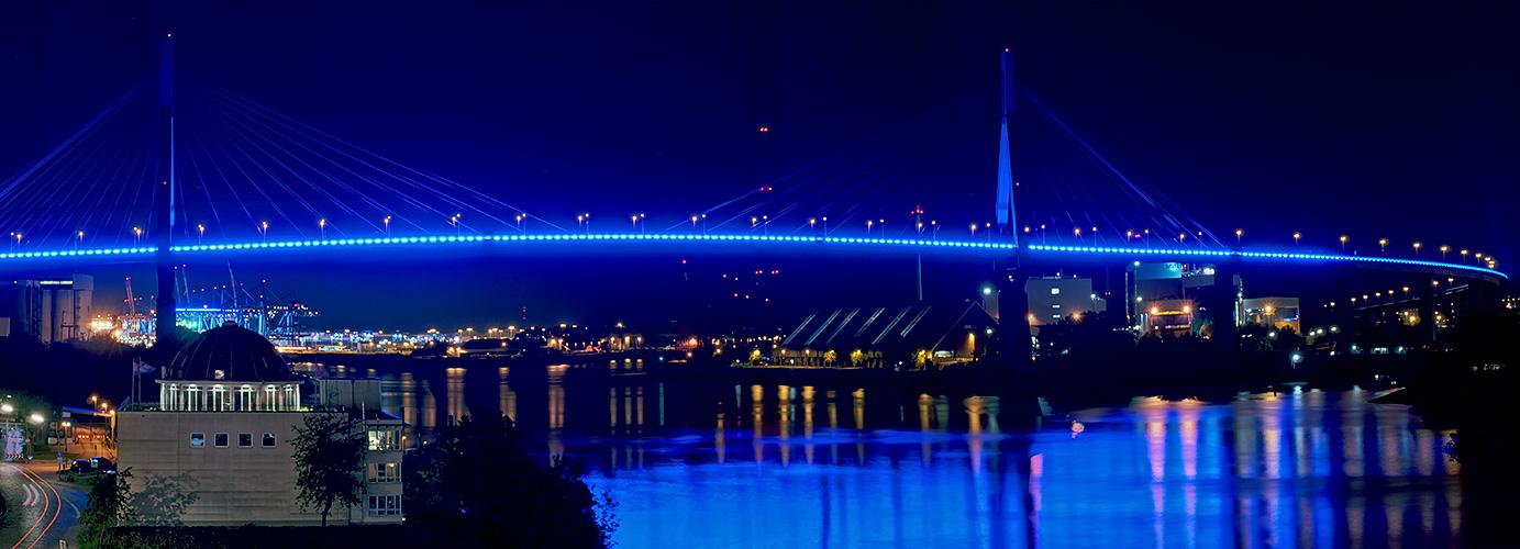 BluePort 2012-II: HDR Panorama Köhlbrandbrücke