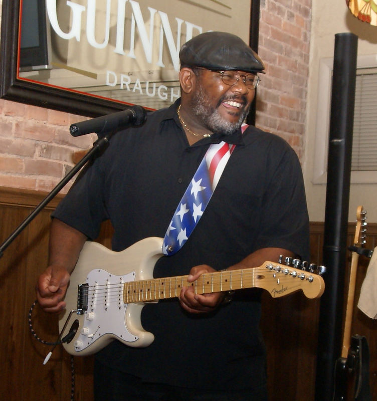 Blues Guitarist Brian B.A. Anderson performing