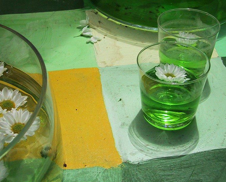 Blüten und Glas