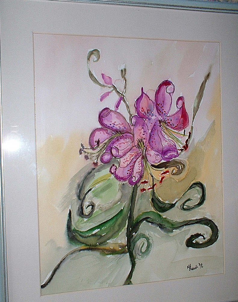 Blume in Aquarell