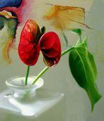 Blume vor Bild