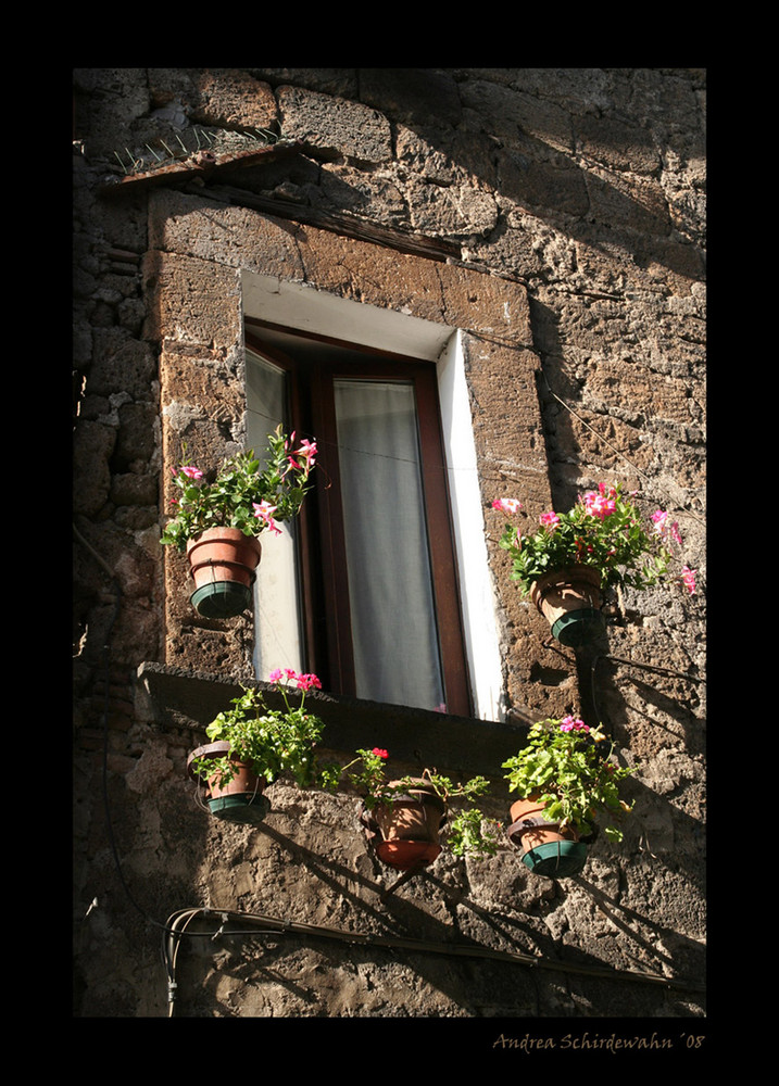 blumen am fenster foto bild europe italy vatican city s marino italy bilder auf. Black Bedroom Furniture Sets. Home Design Ideas