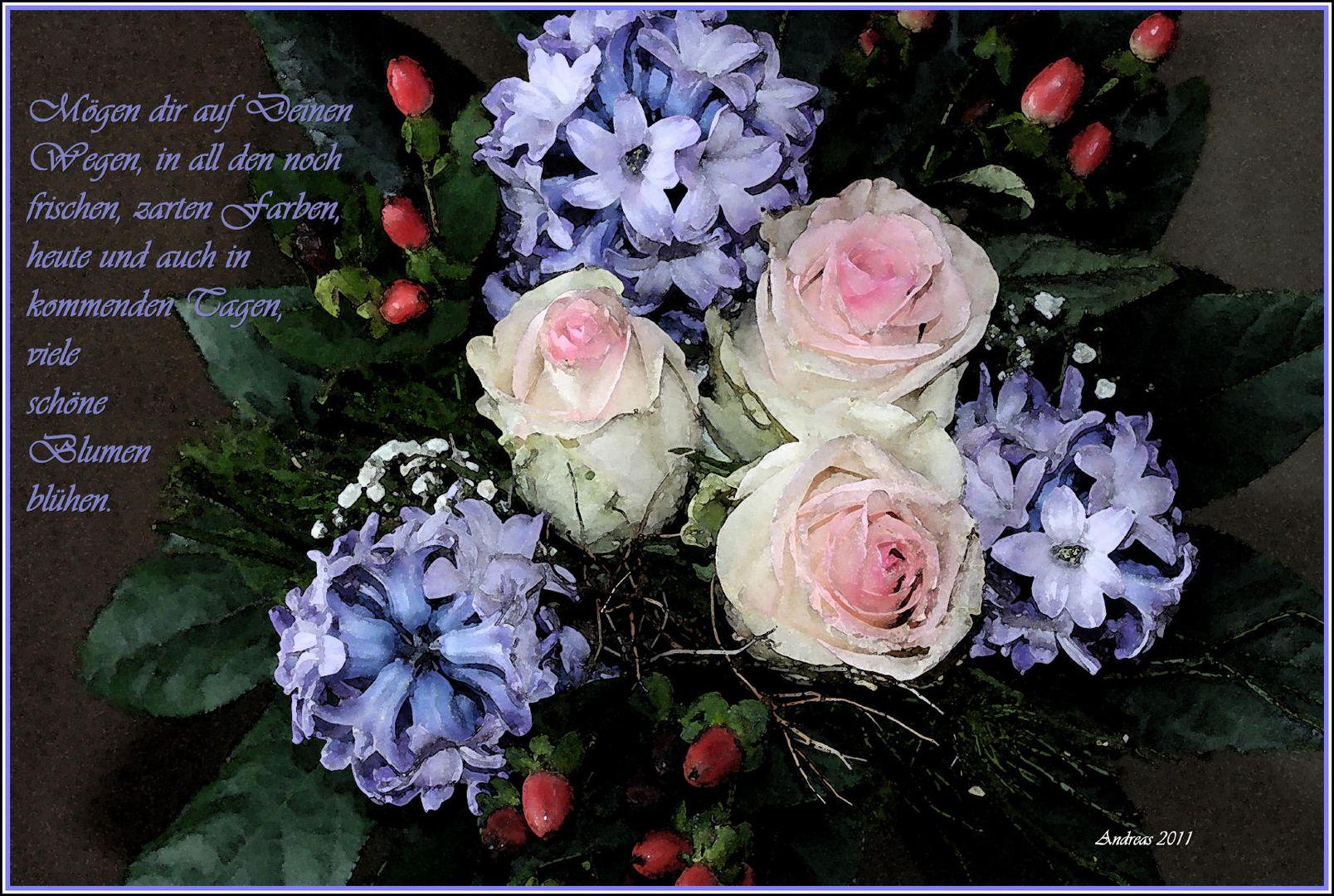 Blumen auf allen Wegen