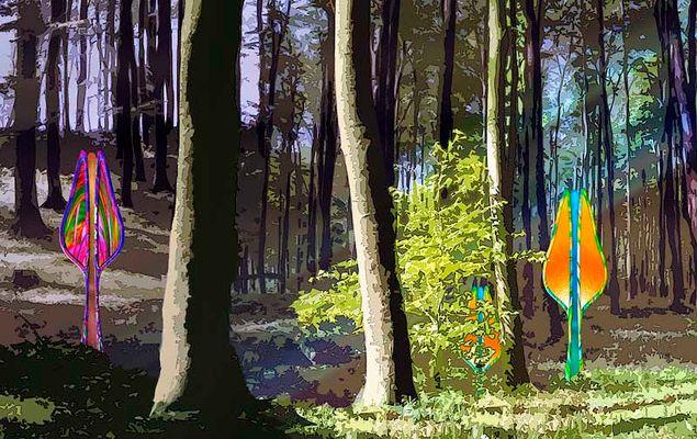 Blumen im Wald