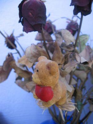 Blumen mit Teddy