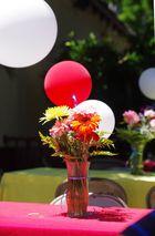 Blumenarrangement beim Mexikaner in LA