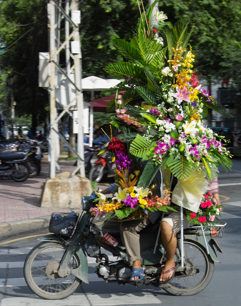 Blumenbote in Saigon