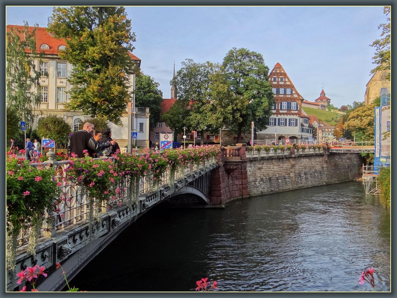 Blumenbrücke in Esslingen