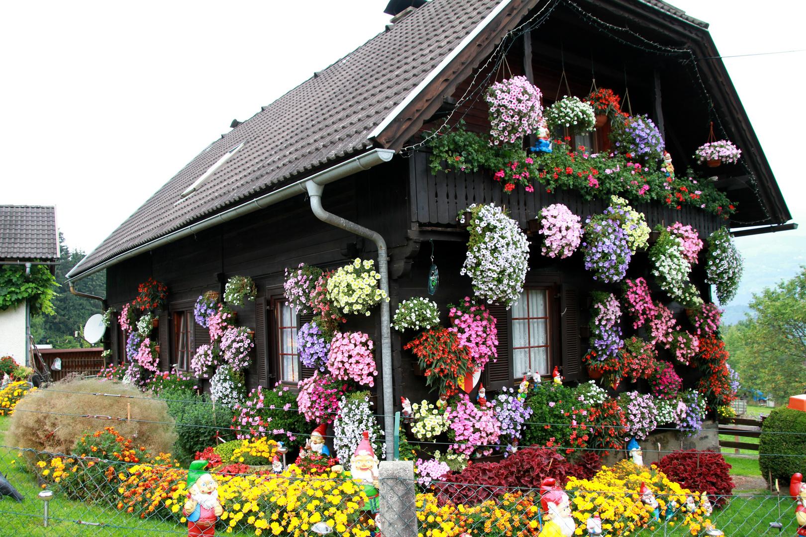 Blumenhaus in Österreich
