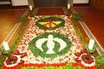 Blumenteppich zu Fronleichnam in der Pfarrkirche
