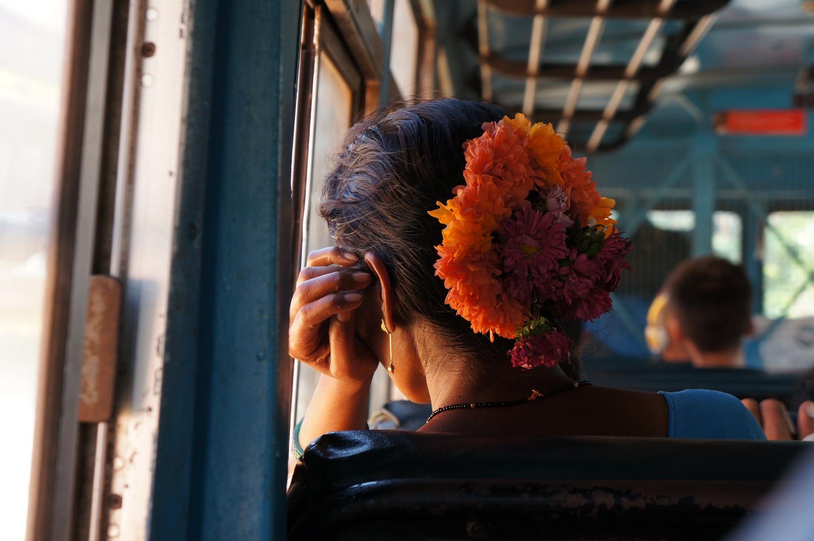 Blumentracht im Bus