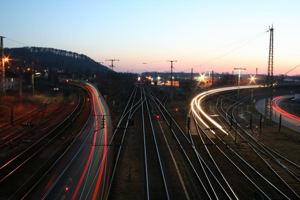 """blurry"" trains"