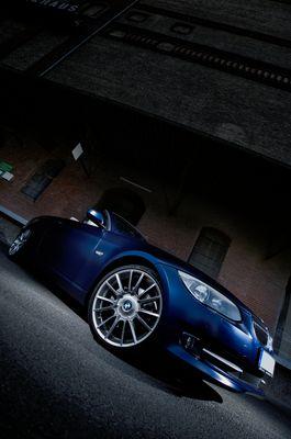 BMW 3er Cabrio - Matt blau (Shooting im Rheinhafen Karlsruhe)