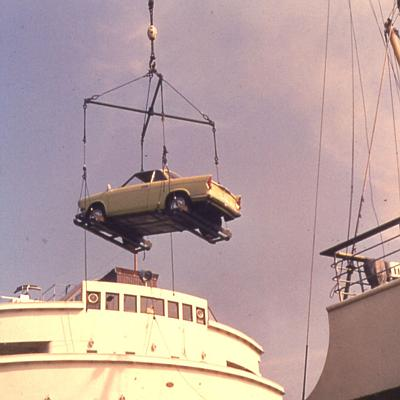 BMW auf dem Weg nach Irland