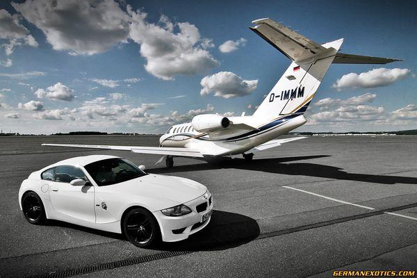 BMW M Coupe und Learjet