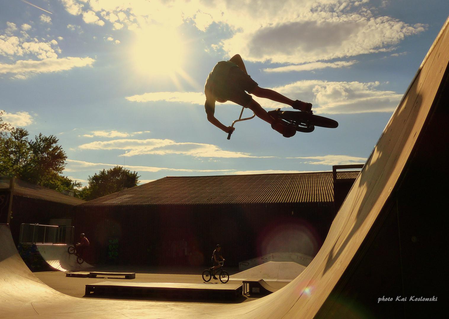 - BMX Air springen -