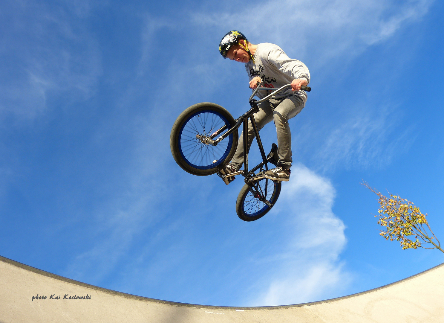 BMX - air springen - Matthias