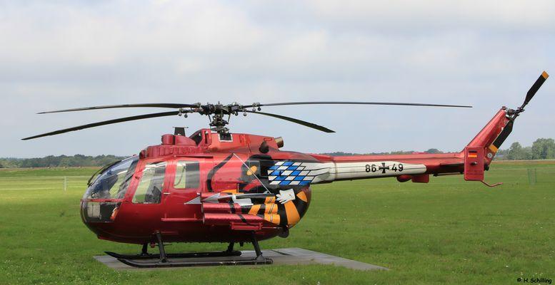 Bo105 PAH 86+49 in Sonderlackierung
