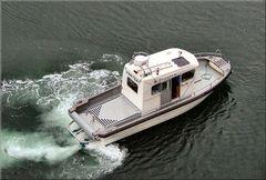 ** Boat in North sea **