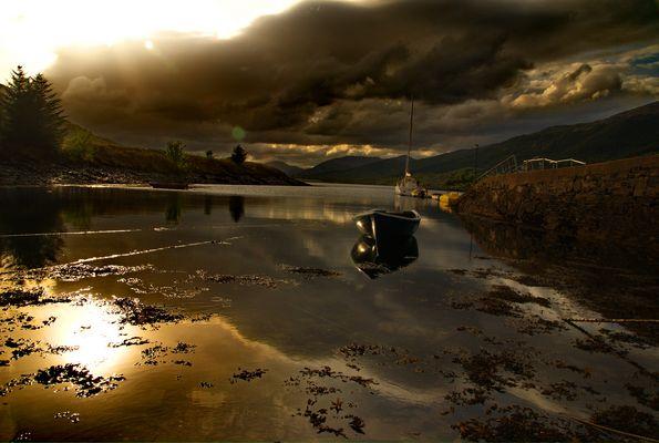 Boat near Gleancoe, Scotland May 2011