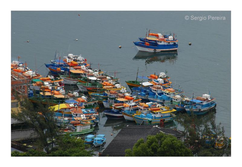 Boats in Victoria Bay - ES - Brasil