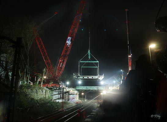 Bochum: Abbau einer 340t Brücke