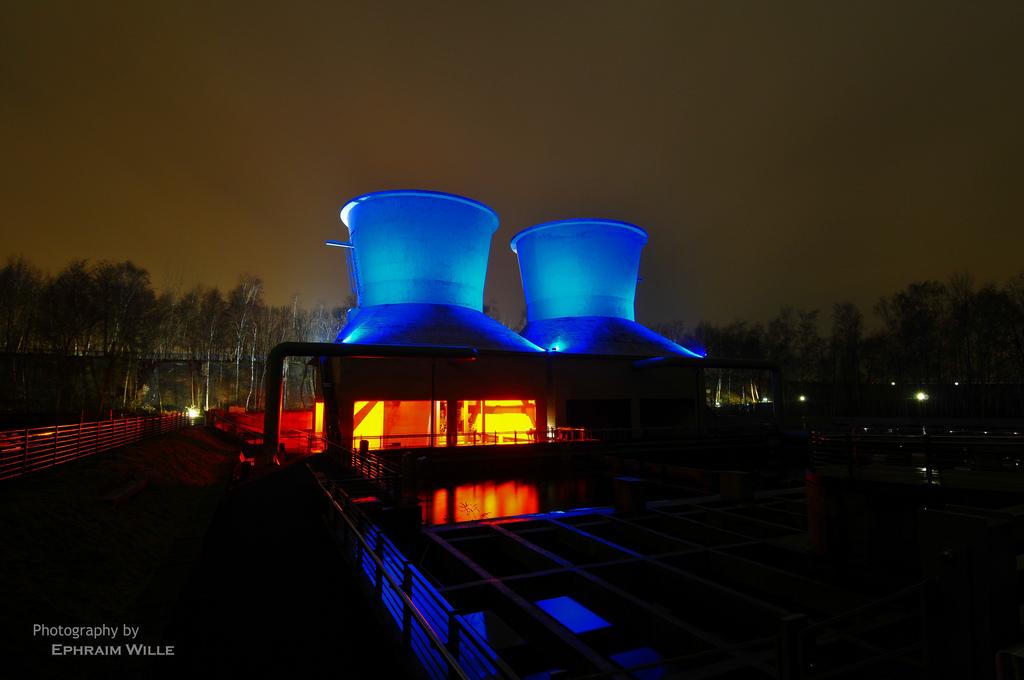 Bochum Westpark at night