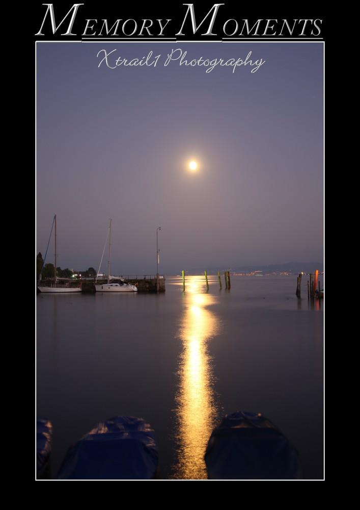 Bodensee, Mond, Meersburg, Hafen