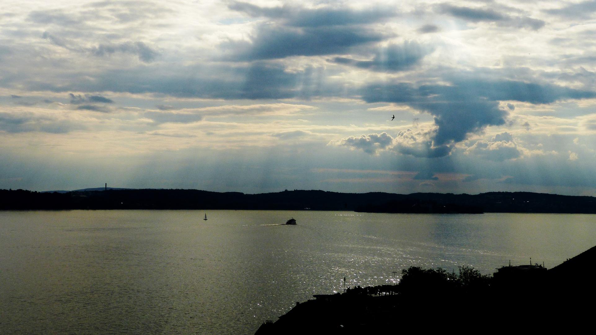 Bodensee -von Meersburg Richtung Konstanz