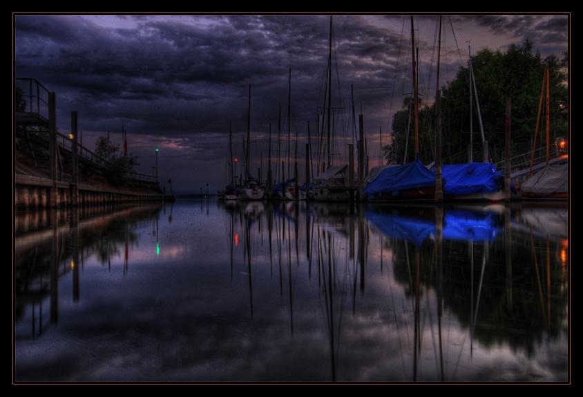 Bodenseehafen bei Nacht (reload)